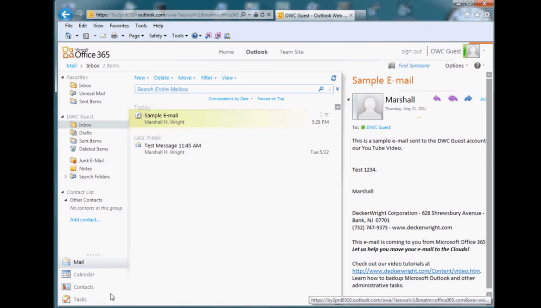 Tutorial to Access e-mail Web Portal of Office 365 or Exchange Online